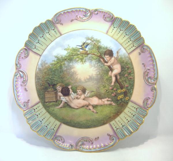 Plat Porcelaine Limoges 1896