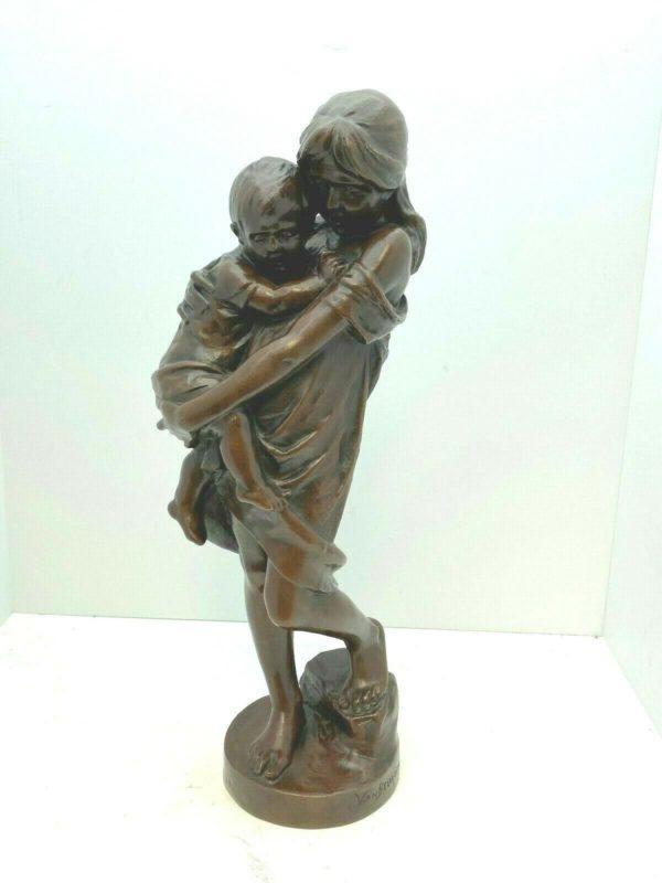 Sculpture en bronze signée Alphonse VAN BEURDEN (1854-1938)
