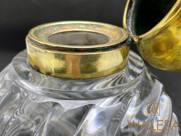 Encrier boule en cristal de Baccarat