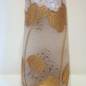 Vase Montjoye Legras Hortensias