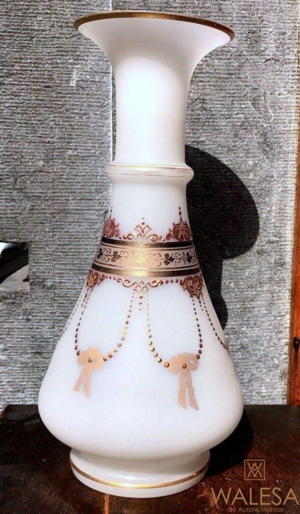 vases OPALINE peints