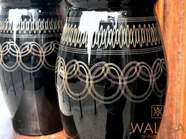 vases en verre hyalite