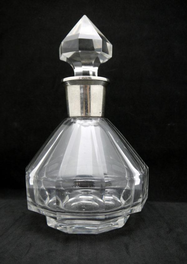 carafe cristal argent Val Saint Lambert