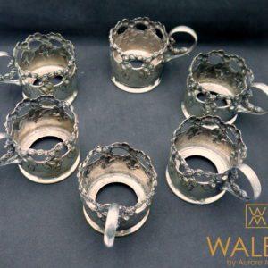 porte-gobelets métal argenté Warszawa