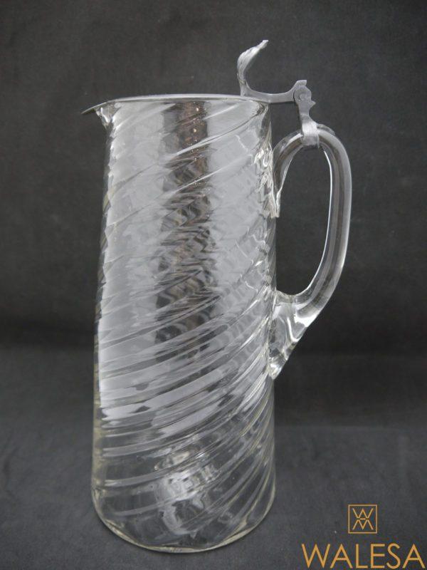 Carafe en verre soufflé fin XVIIIème