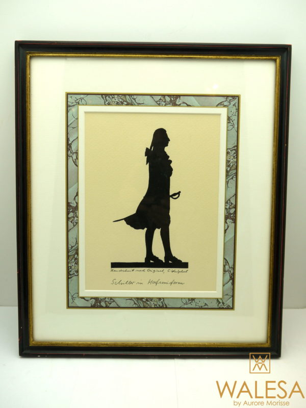 Portrait silhouette Schiller