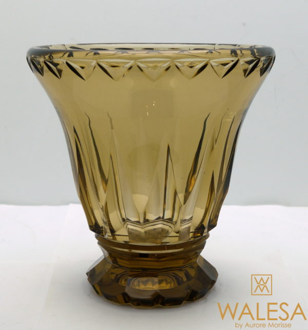 Vase art deco topaze Val Saint Lambert