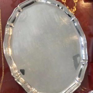 plateau de service métal argenté de style Louis XV
