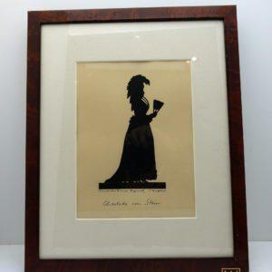 portrait silhouette Charlotte Von Stein