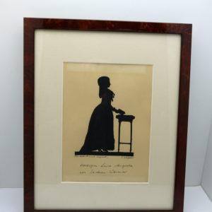 portrait silhouette Duchesse Augusta von Sachsen-Weimar