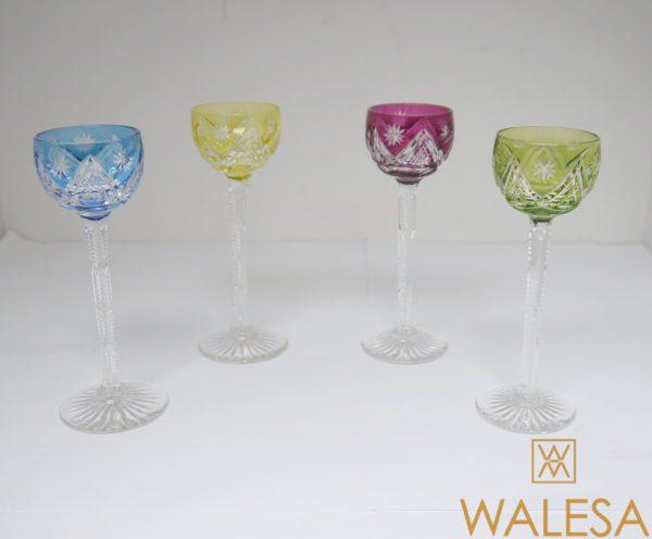 4 verres à liqueur cristal Val Saint Lambert 13cm