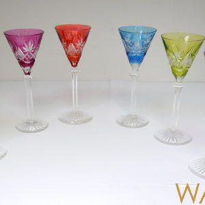 6 verres à liqueur cristal Val Saint Lambert 13cm