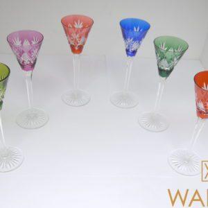 6 verres à liqueur cristal Val Saint Lambert 14,5cm