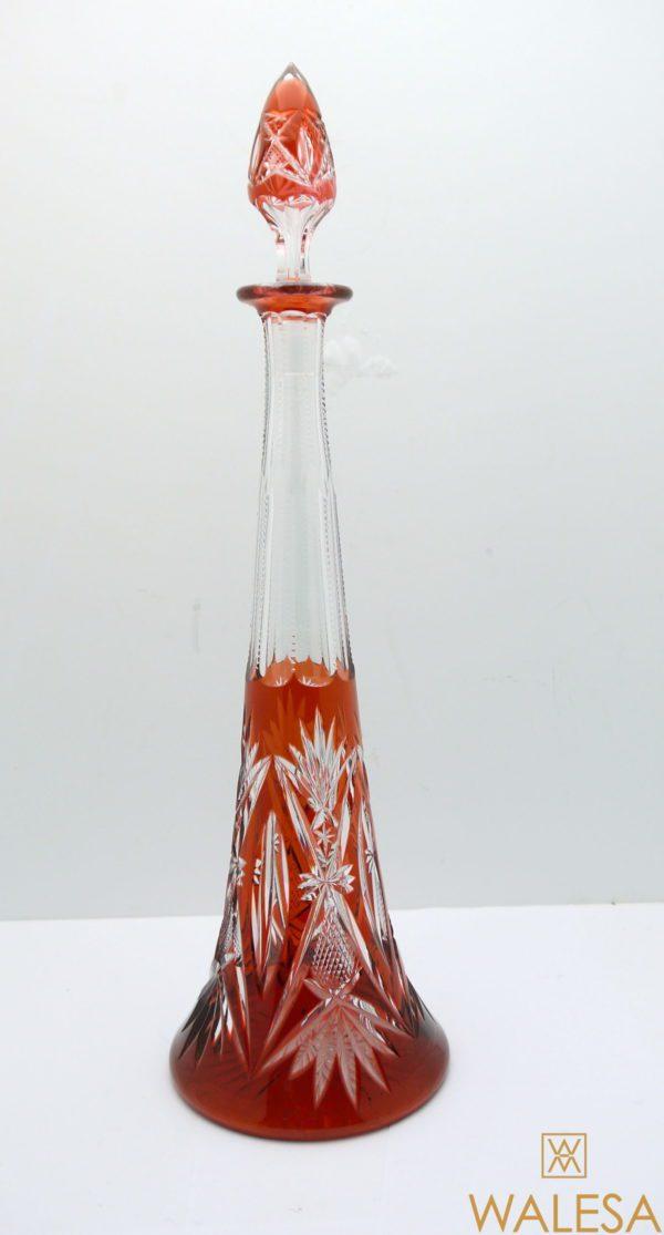 Carafe Eiffel 44cm Val Saint Lambert cristal doublé Aurore taillé