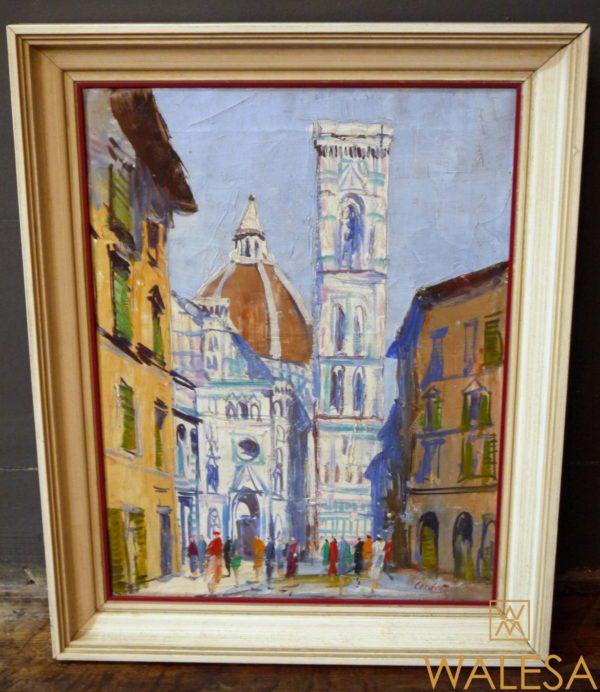 Cordet Huile sur toile Florence Cathédrale Santa Maria del Fiore