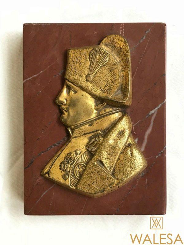 NAPOLEON buste de profil, bronze doré signé C. DE. FRANOZ