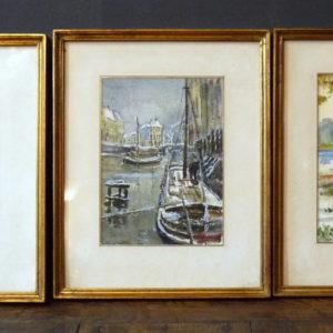 lot de 3 aquarelles F Wilmaers (1887 - 1967)