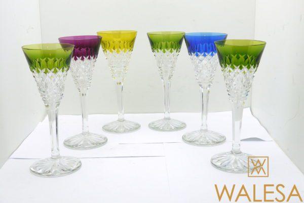 6 verres à Vin Val Saint Lambert 20cm