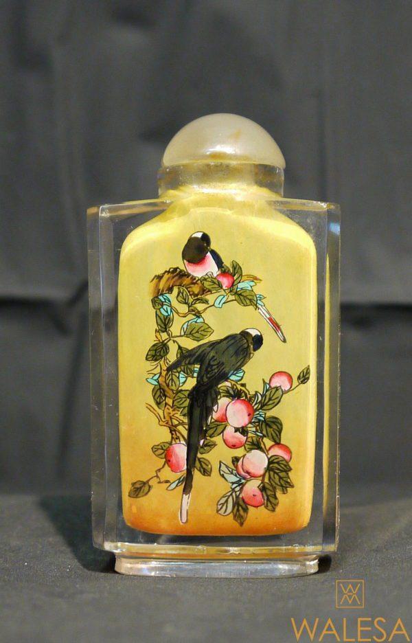Snuff Bottle en verre de Pékin