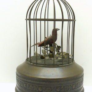 Cage à oiseau automate chanteur
