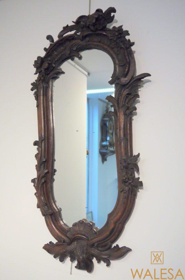 Miroir En Bois Sculpté De Style Louis XV Chêne Massif - XIXème