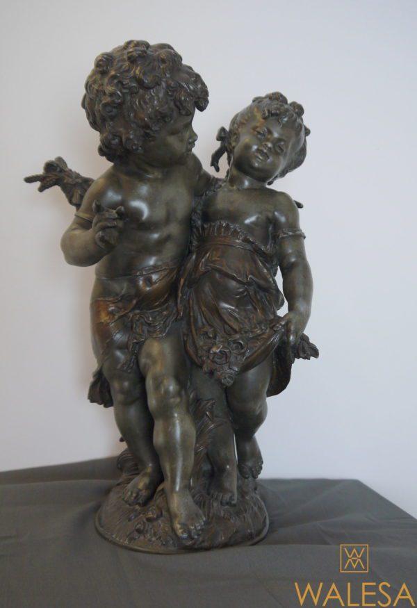Auguste Moreau (1834-1917) Couple d'enfants - Régule