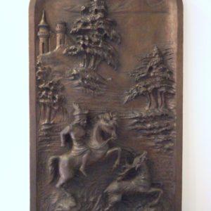 tableau bois sculpté 19ème